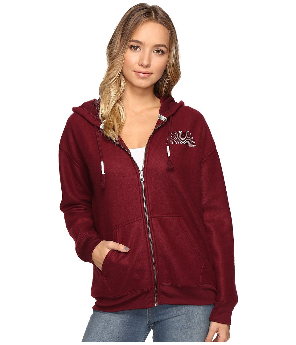 Volcom - Lived In Zip (Merlot) Women's Clothing