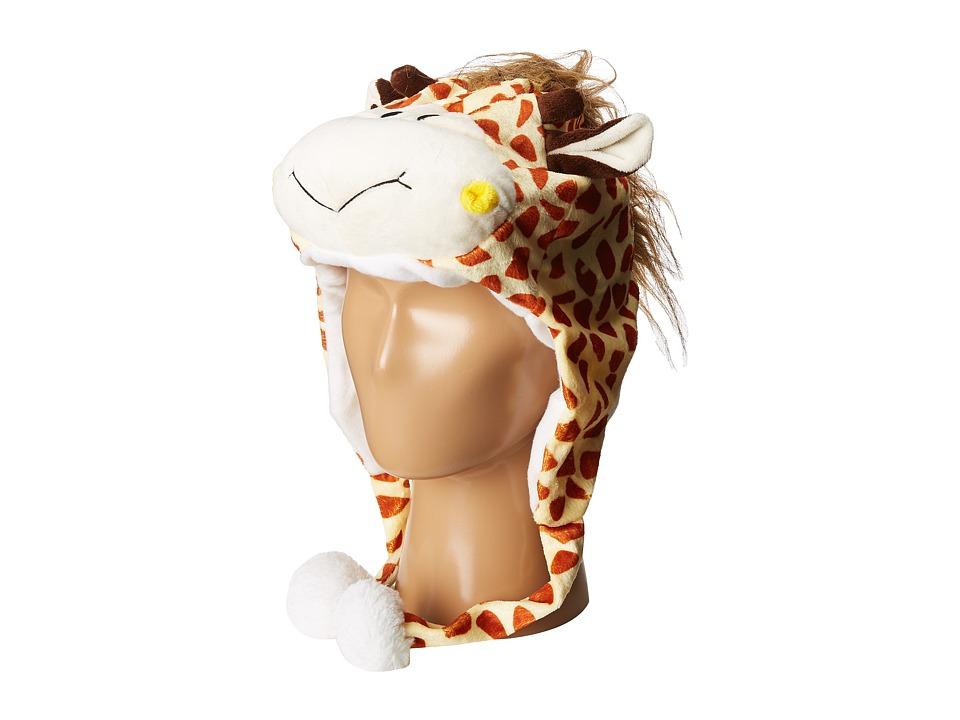 SCALA Faux Fur Animal Hat (Toddler/Little Kids) (Giraffe) Traditional Hats