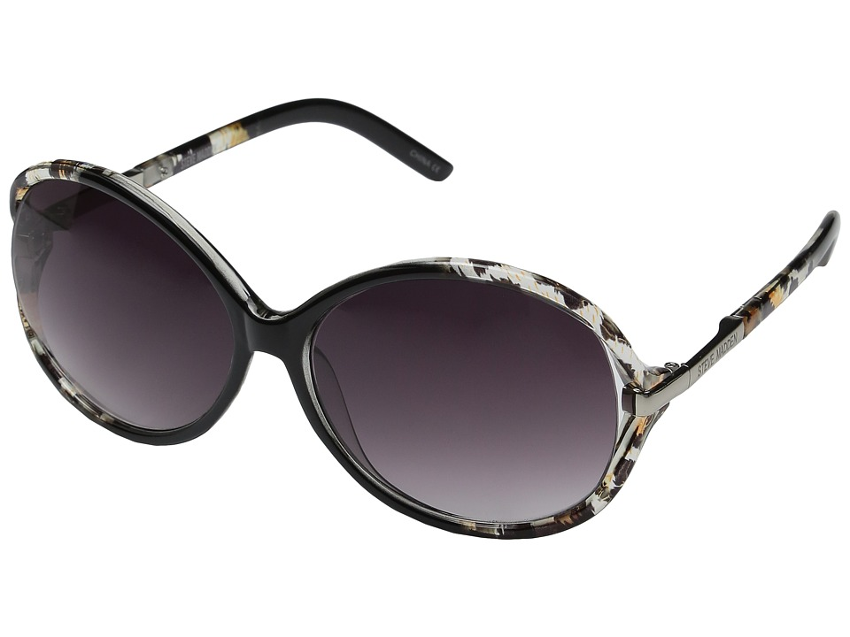 Steve Madden - Samantha (Black/Animal) Fashion Sunglasses