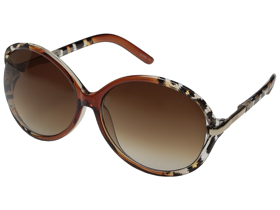 Steve Madden - Samantha (Brown/Animal) Fashion Sunglasses