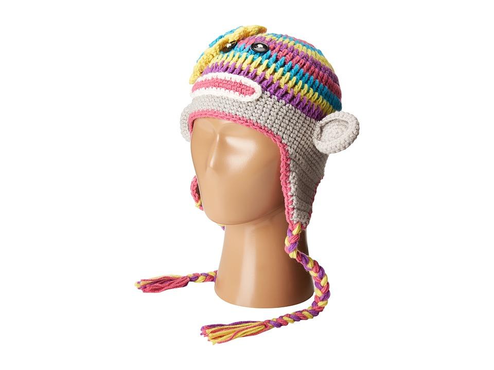 SCALA Knit Monkey Peruvians (Toddler/Little Kids) (Pastel) Knit Hats