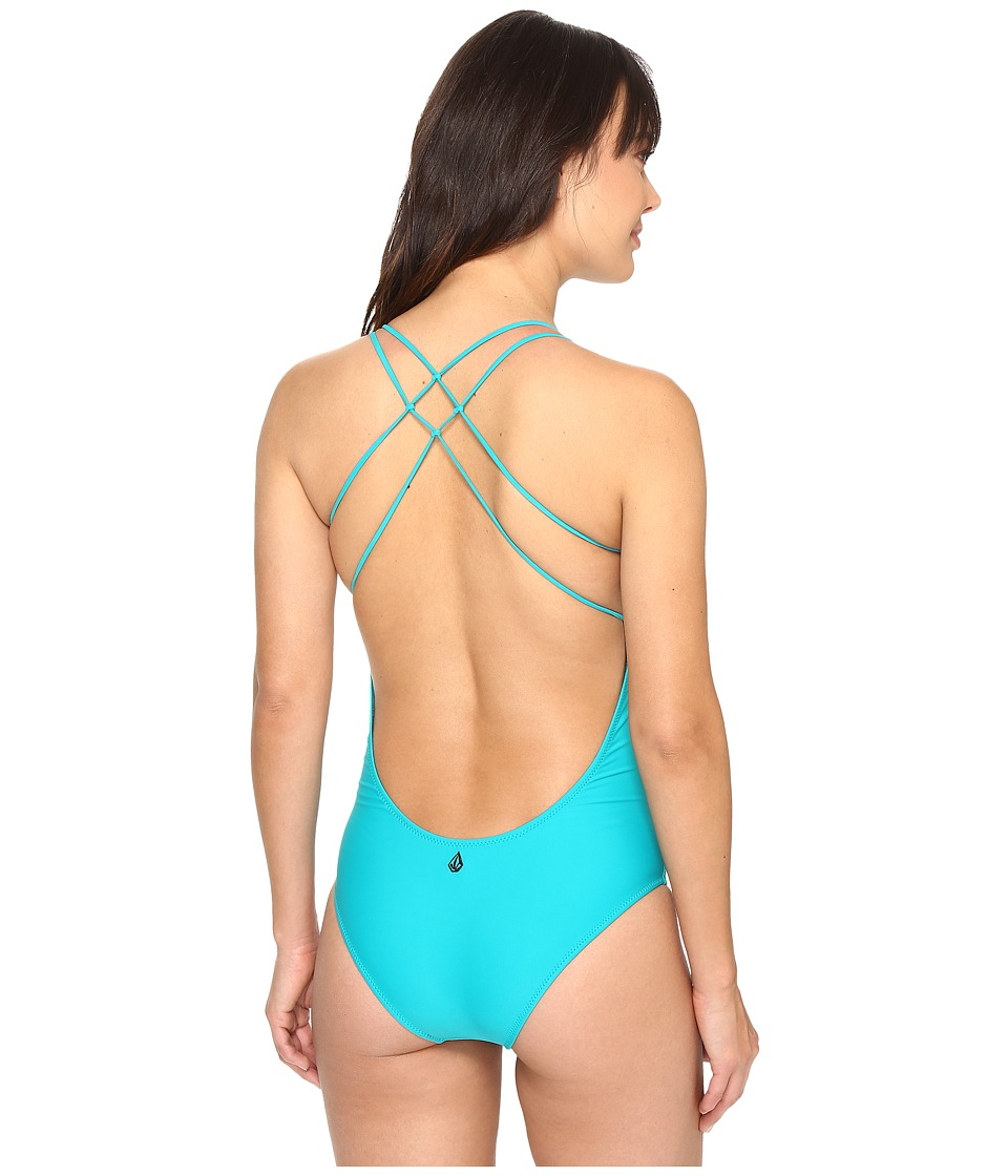 Volcom - Simply Solid One-Piece (Teal) Women's Swimsuits One Piece
