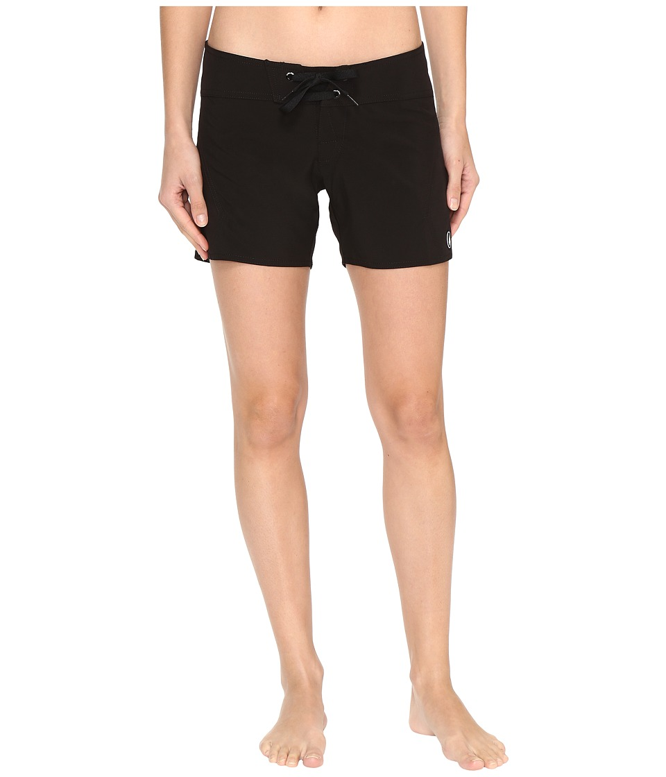 Volcom - Simply Solid 5 Boardshorts (Black) Women's Swimwear