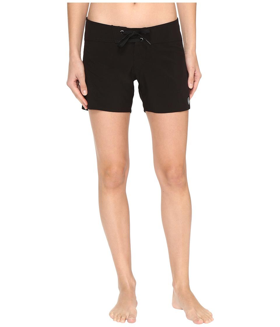 Volcom - Simply Solid 5 Boardshorts (Black) Women's Swimwear