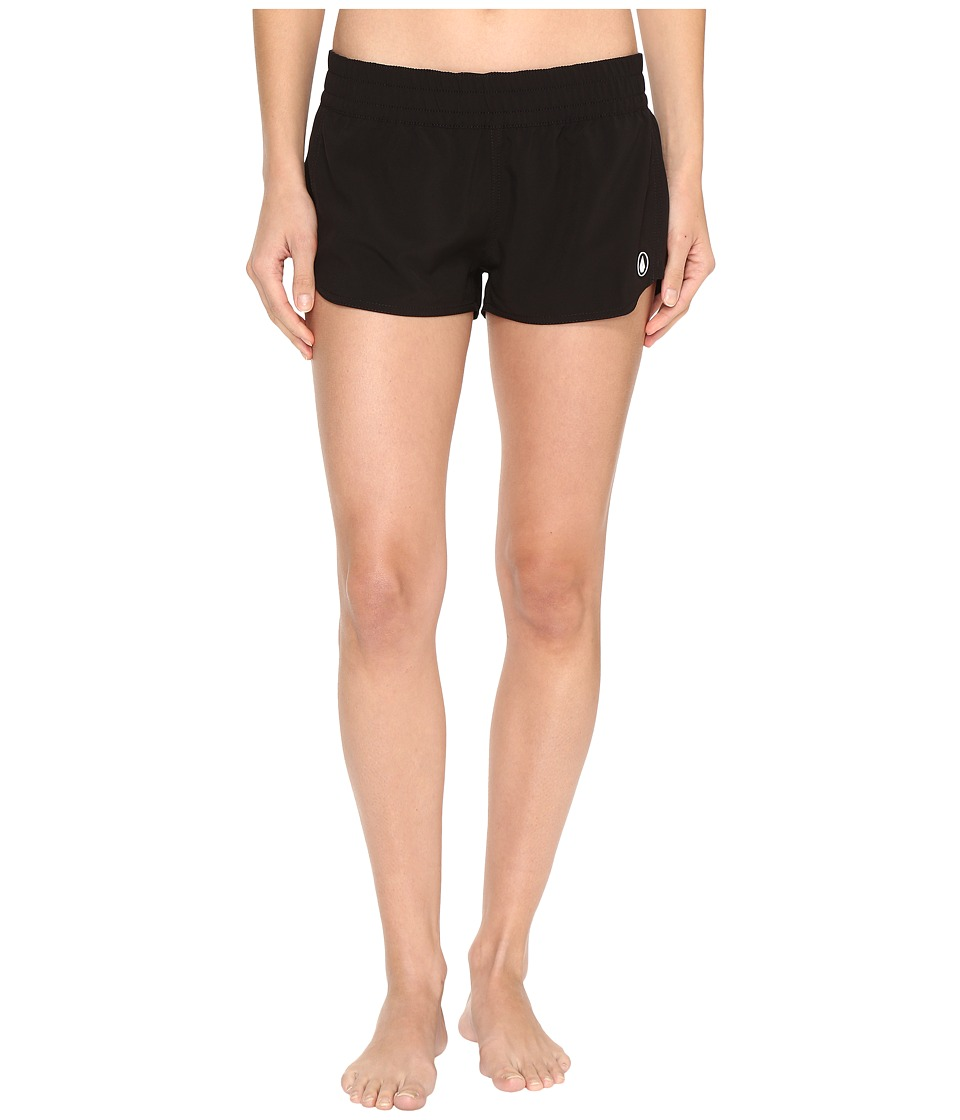 Volcom - Simply Solid 2 Boardshorts (Black) Women's Swimwear