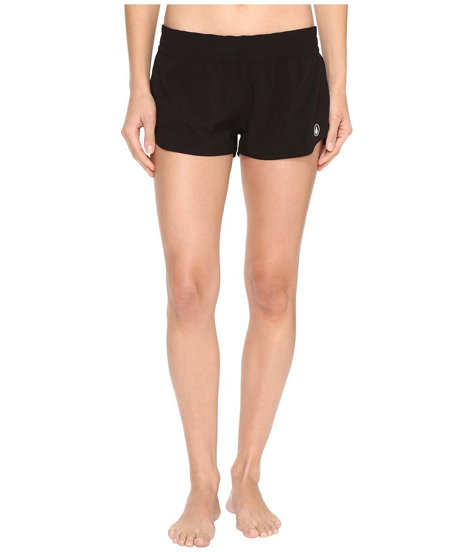 Volcom - Simply Solid 2 Boardshorts (Black) Women's Swimwear