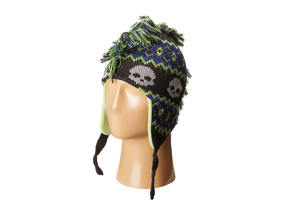 SCALA - Skull Mohawk Knit (Toddler/Little Kids) (Black) Knit Hats