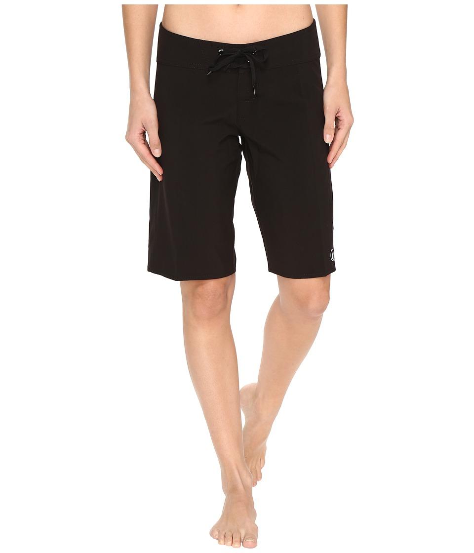 Volcom - Simply Solid 11 Boardshorts (Black) Women's Swimwear