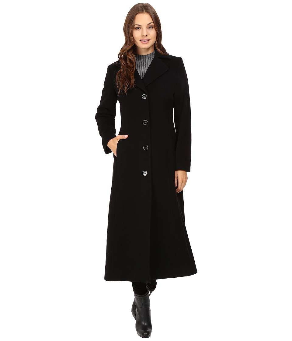 Anne Klein - Wool Long Coat (Black) Women's Coat plus size,  plus size fashion plus size appare
