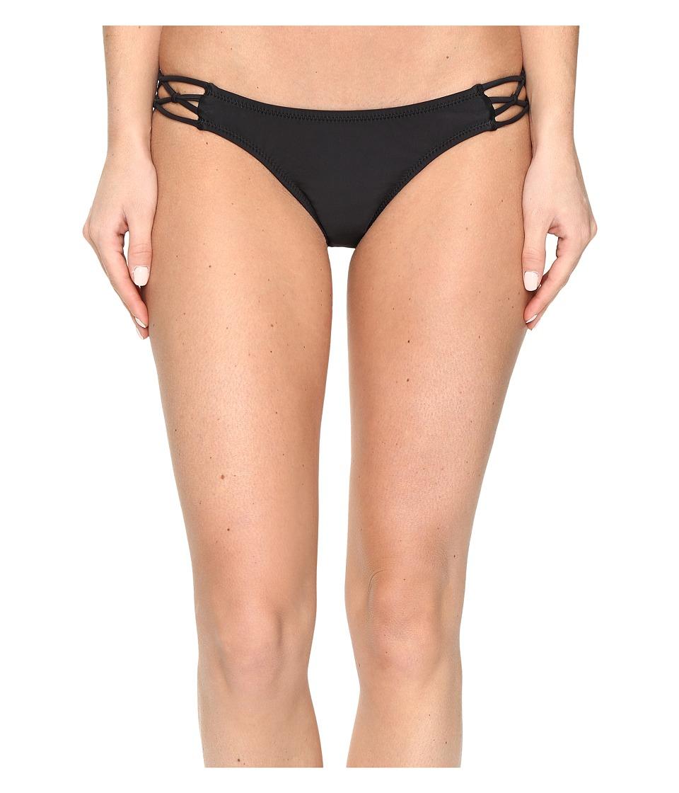 Volcom - Simply Solid Full Bottom (Black) Women's Swimwear