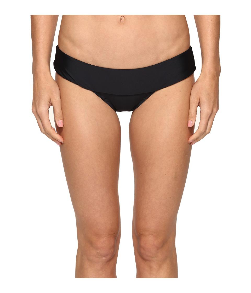 Volcom - Simply Solid Modest Bottom (Black) Women's Swimwear