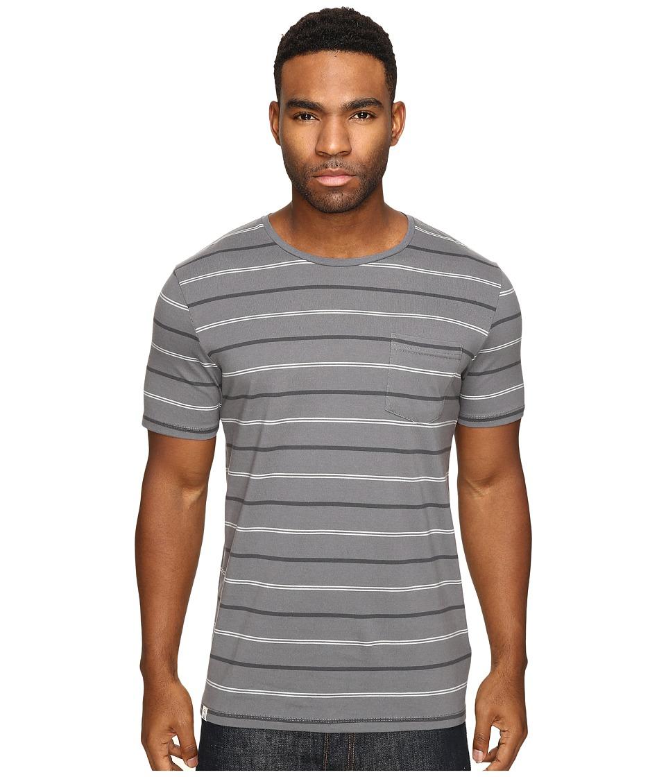 Captain Fin - Wowzer Short Sleeve Knit (Grey) Men's Clothing