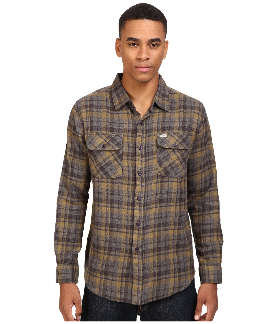 Captain Fin - Badger Flannel (Charcoal) Men's Clothing