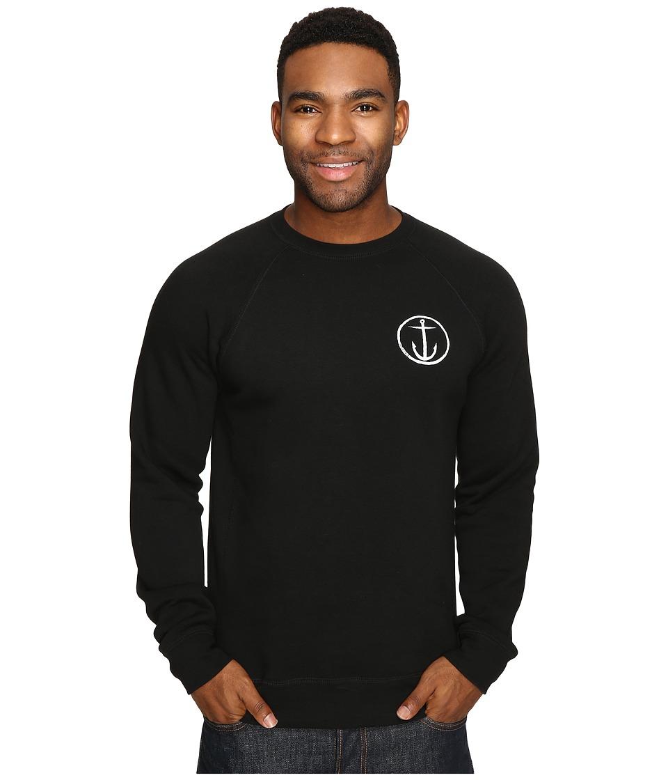 Captain Fin - Helm Crew Fleece (Black) Men's Fleece