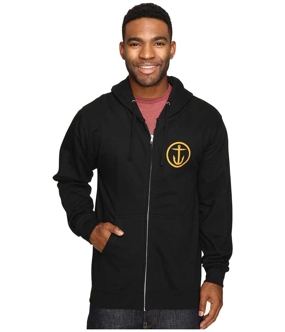 Captain Fin - New Wave Zip Fleece (Black) Men's Fleece