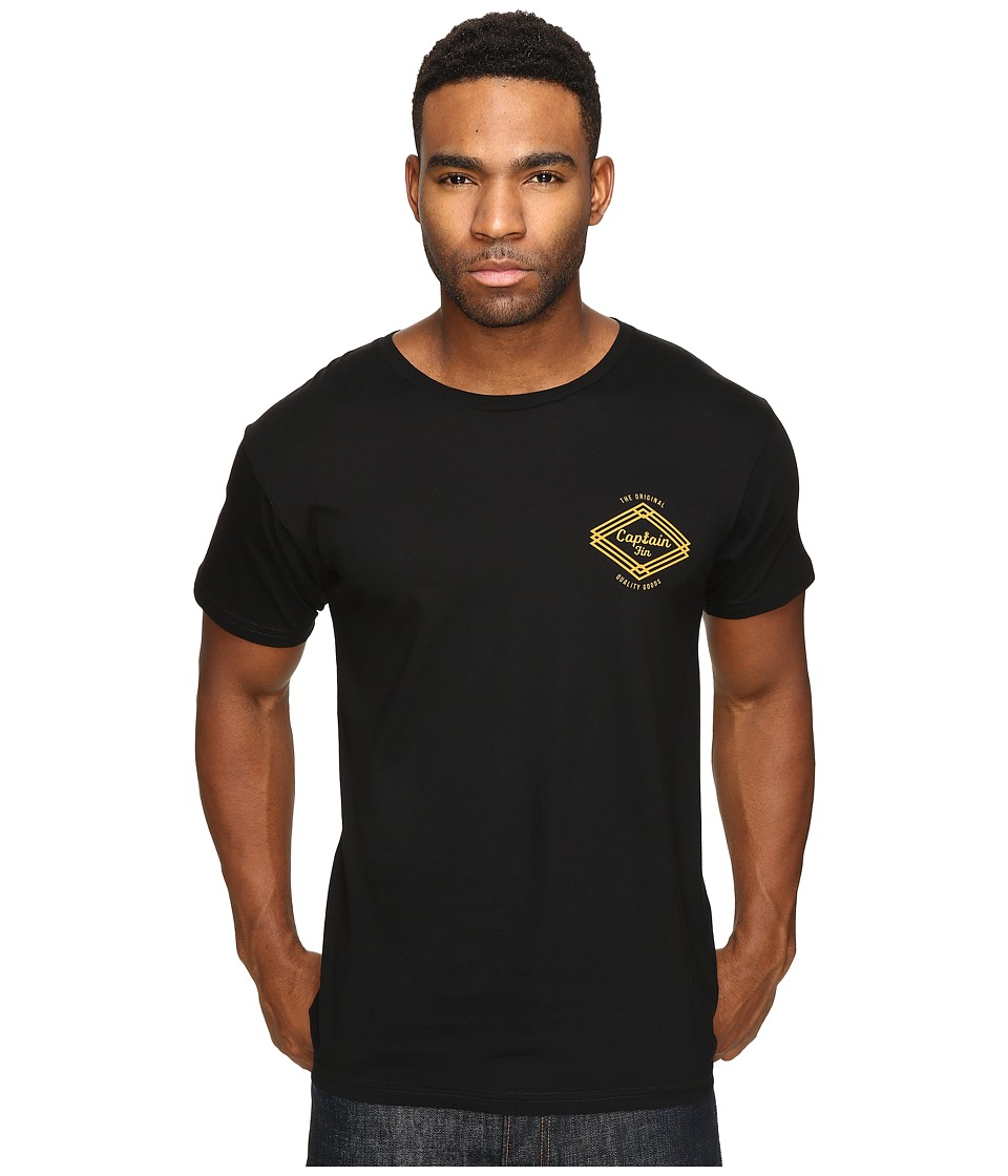 Captain Fin - Proven Premium Tee (Black) Men's T Shirt