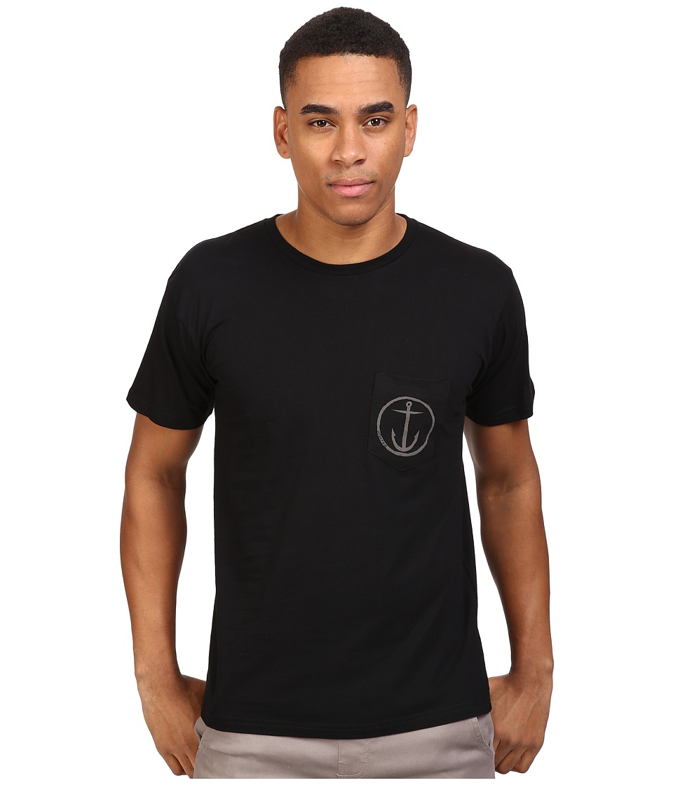 Captain Fin - Helm Pocket Tee (Black/Grey) Men's T Shirt