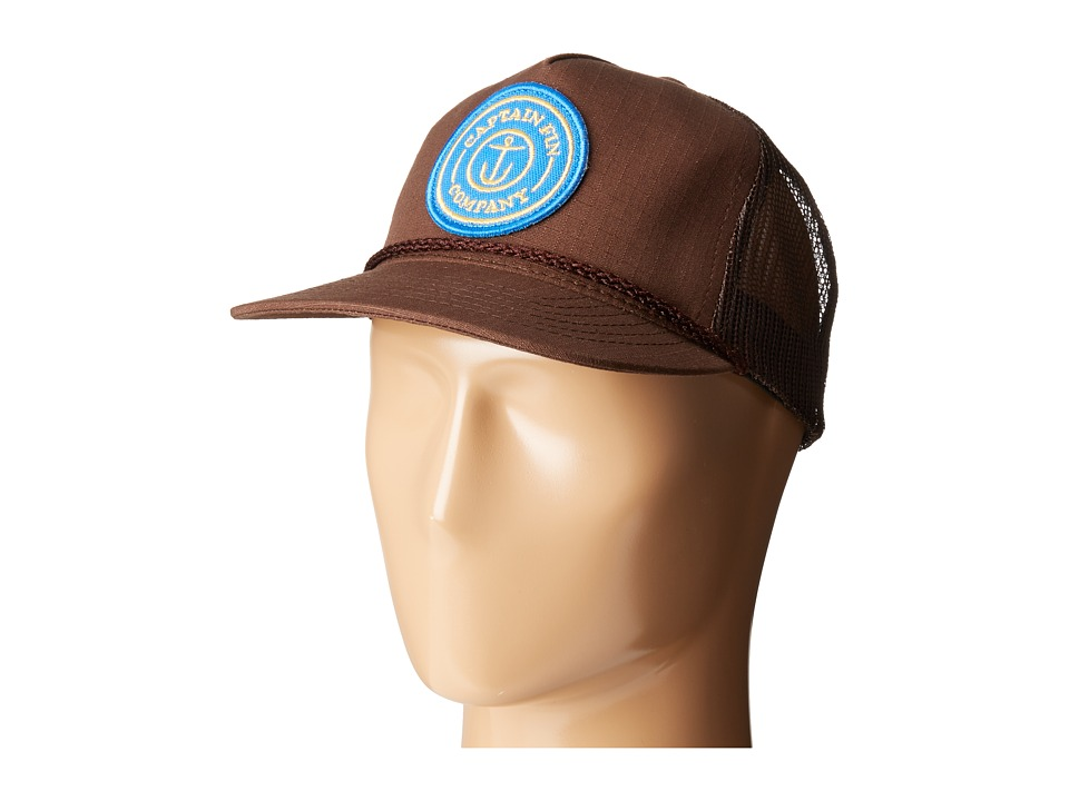 Captain Fin - Fresh Catch Premium Truck (Brown) Caps