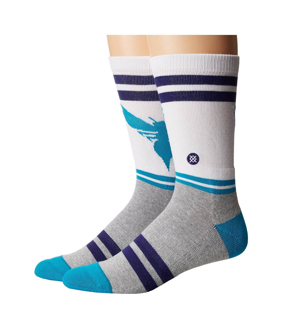 Stance - City Gym Hornets (White) Men's Crew Cut Socks Shoes