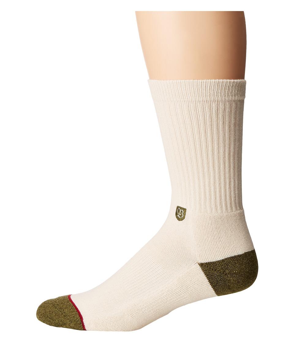 Stance - Surplus (Natural) Men's Crew Cut Socks Shoes