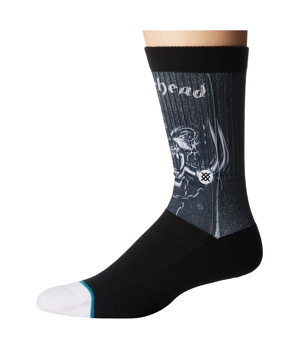 Stance - Motorhead (Black) Men's Crew Cut Socks Shoes
