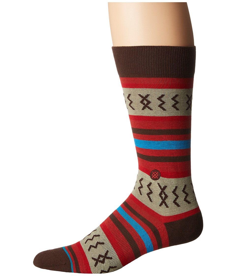 Stance - Mexicali Rose (Red) Men's Crew Cut Socks Shoes