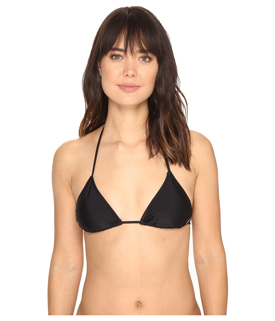 Volcom - Simply Solid Triangle Top (Black) Women's Swimwear