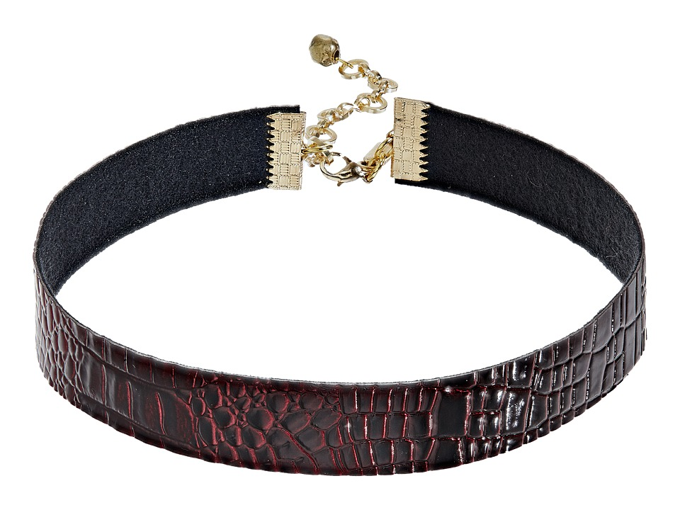 Vanessa Mooney - The Talia Choker Necklace (Burgundy) Necklace