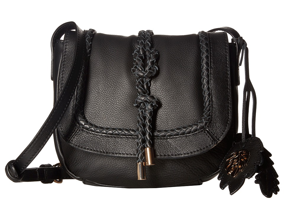 Tommy Bahama - Grenada Crossbody Saddle Bag (Black) Cross Body Handbags