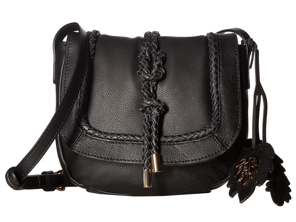 Tommy Bahama - Grenada Crossbody Saddle Bag (Black) Cross Body Handbags