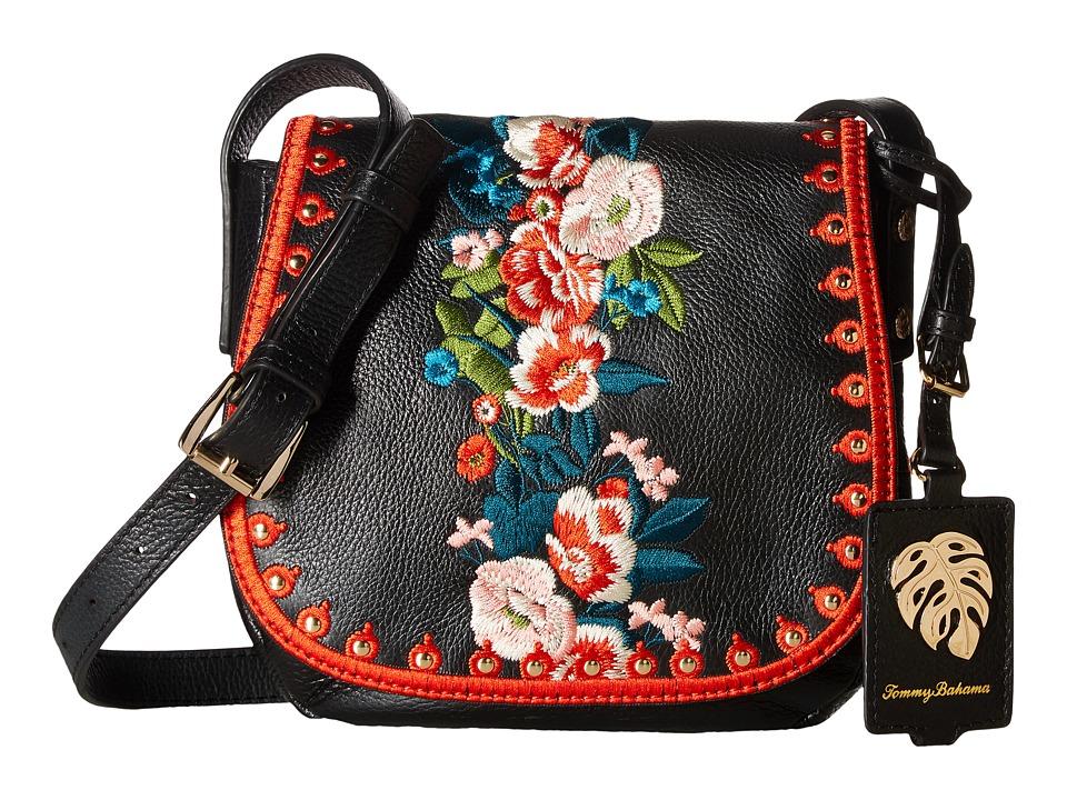 Tommy Bahama - Amelia Saddle Bag (Black) Handbags