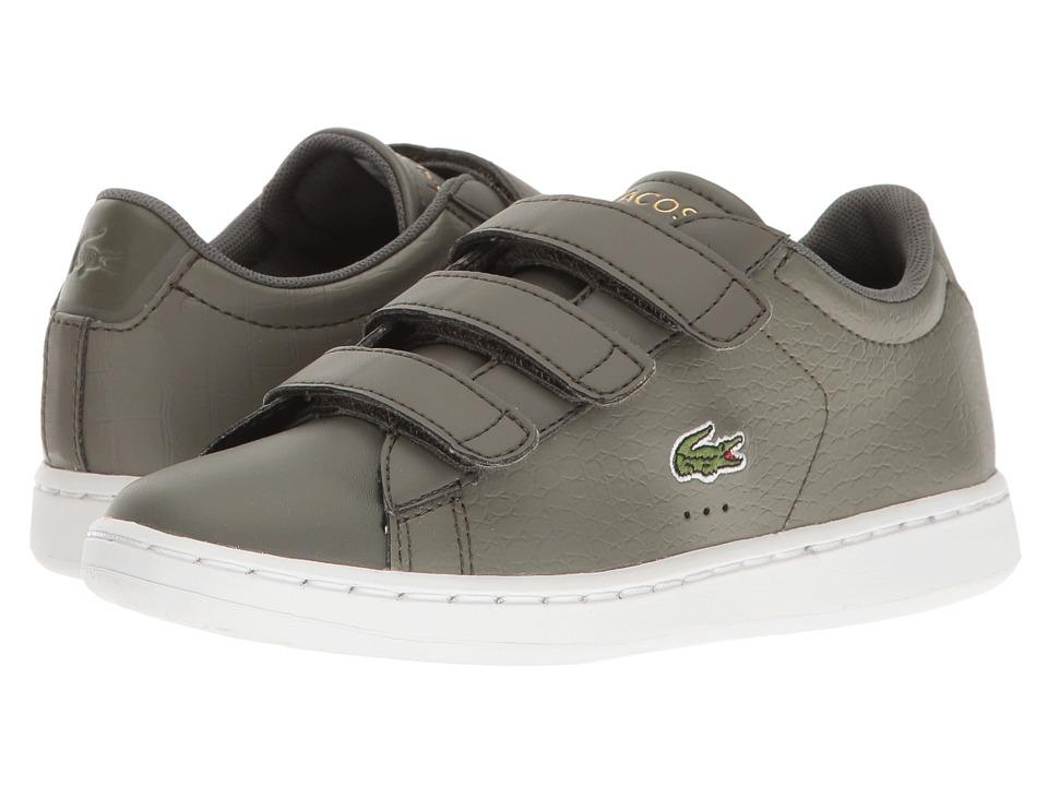 Lacoste Kids - Carnaby Evo G117 3 SPC (Little Kid) (Khaki/Khaki) Kids Shoes