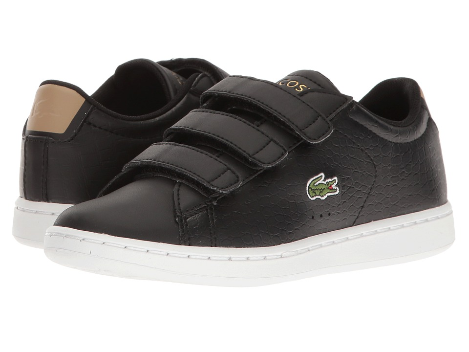 Lacoste Kids - Carnaby Evo G117 3 SPC (Little Kid) (Black/Tan) Kids Shoes