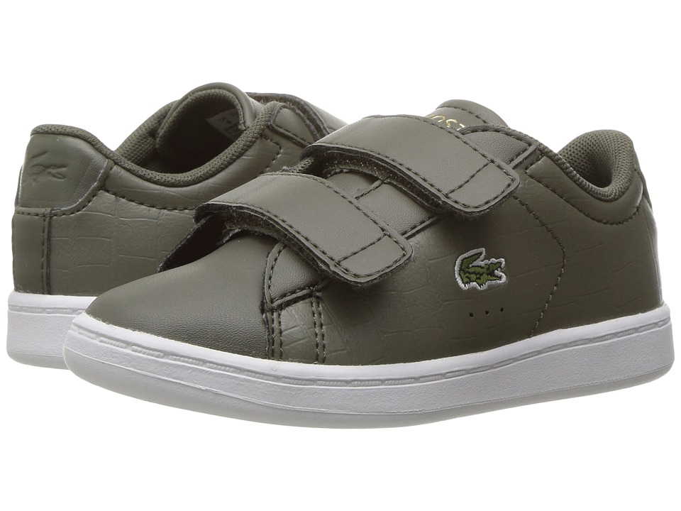Lacoste Kids - Carnaby Evo G117 3 SPI (Toddler/Little Kid) (Khaki/Khaki) Kids Shoes