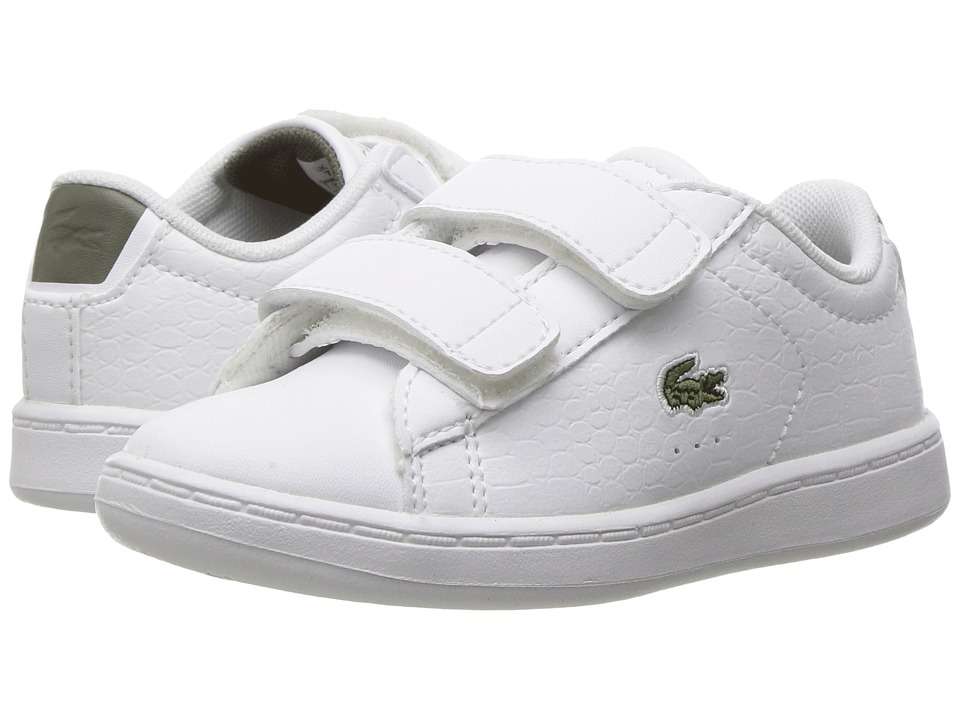Lacoste Kids - Carnaby Evo G117 3 SPI (Toddler/Little Kid) (White/Khaki) Kids Shoes