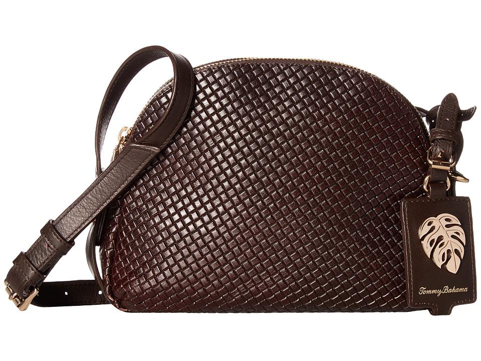Tommy Bahama - St. Augustine Double Zip Crossbody (Chestnut) Cross Body Handbags