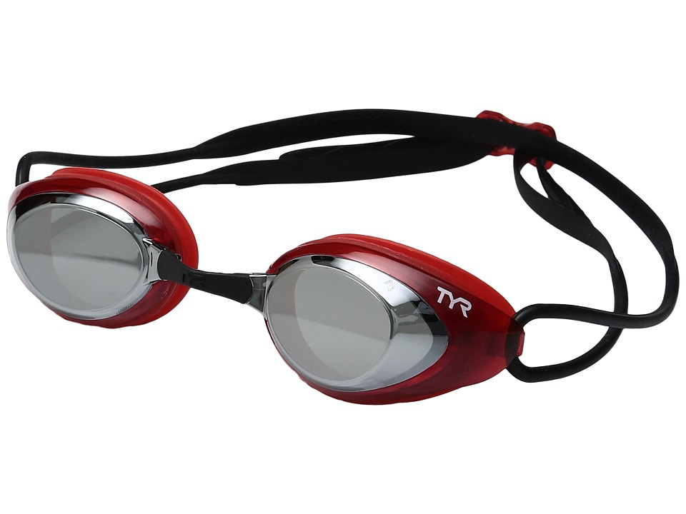 TYR - Black Hawk Racing Mirrored (Silver/Red/Black) Goggles
