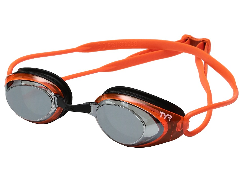 TYR - Black Hawk Racing Polarized (Silver Flourescent Orange/Black) Goggles