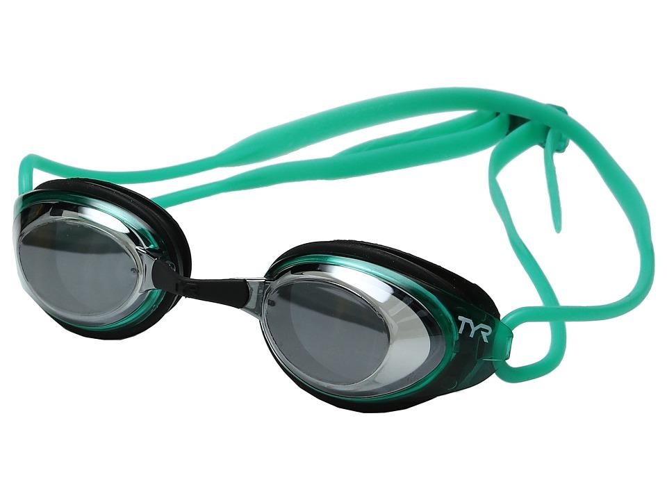 TYR - Black Hawk Racing Femme Polarized (Silver/Mint Black) Goggles