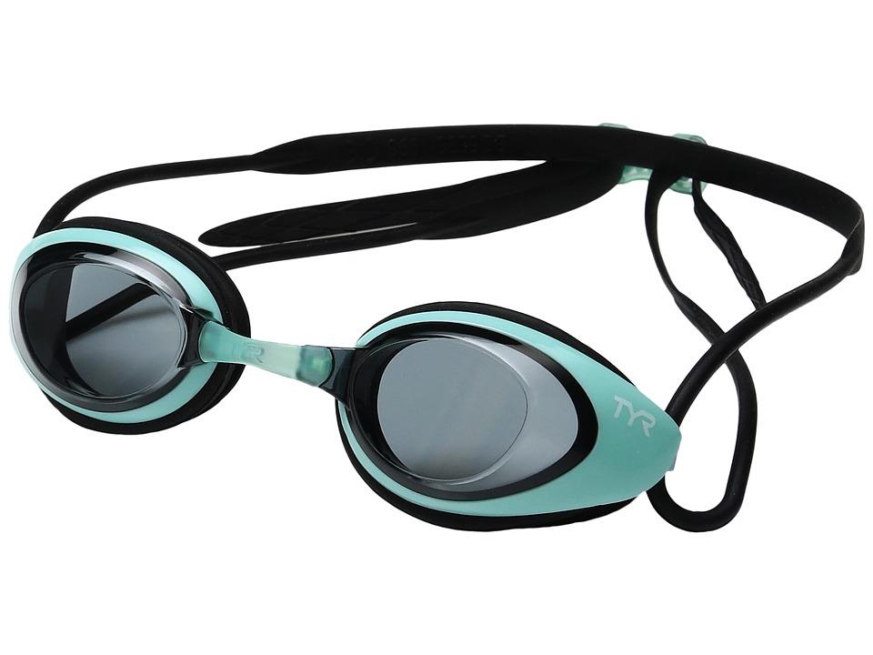 TYR - Black Hawk Racing Femme (Smoke Mint/Black) Goggles