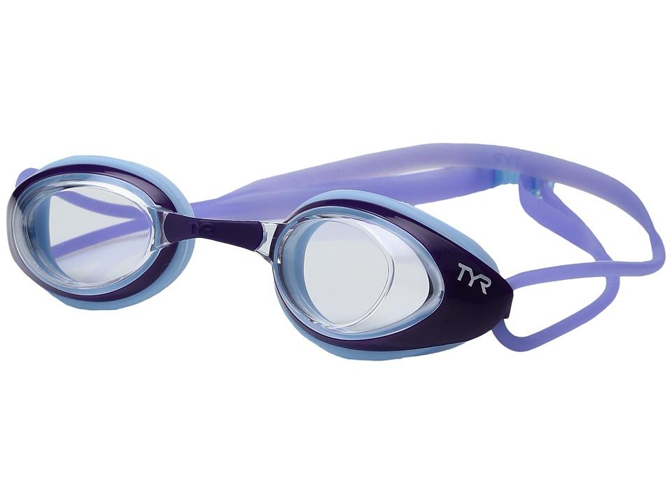 TYR - Black Hawk Racing Femme (Clear Purple/Light Purple) Goggles