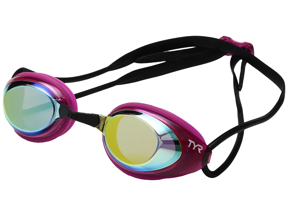 TYR - Black Hawk Racing Femme Mirrored (Gold/Pink/Black) Goggles