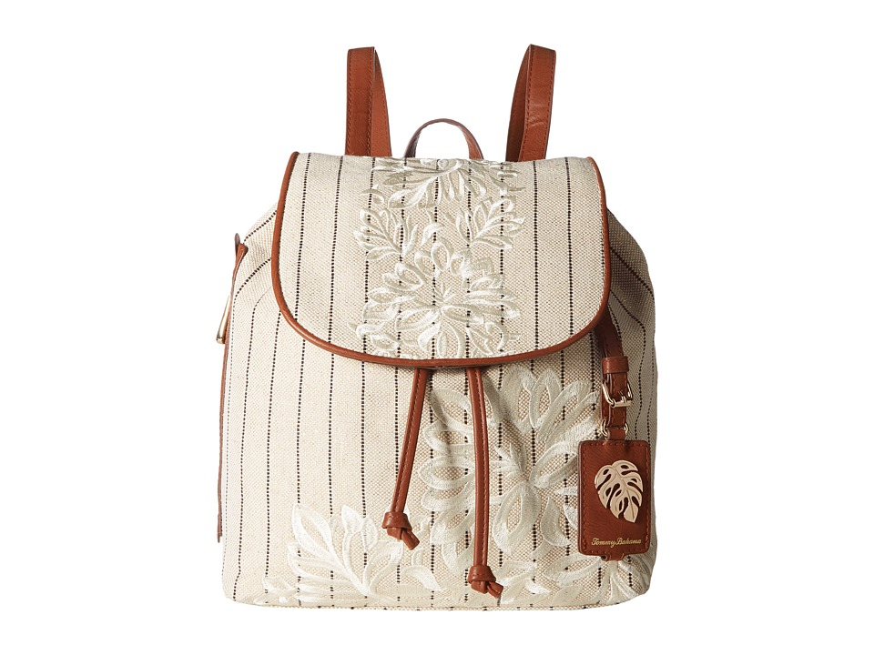 Tommy Bahama - Paradise Flower Backpack (Natural/Stripe) Backpack Bags
