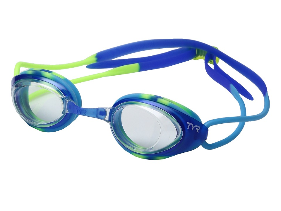 TYR - Black Hawk Racing Junior (Clear Blue/Green) Goggles