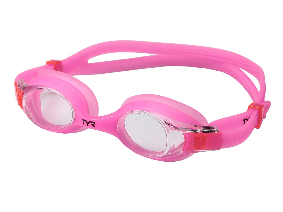 TYR - Swimple Glow In The Dark (Clear Pink/Pink) Goggles