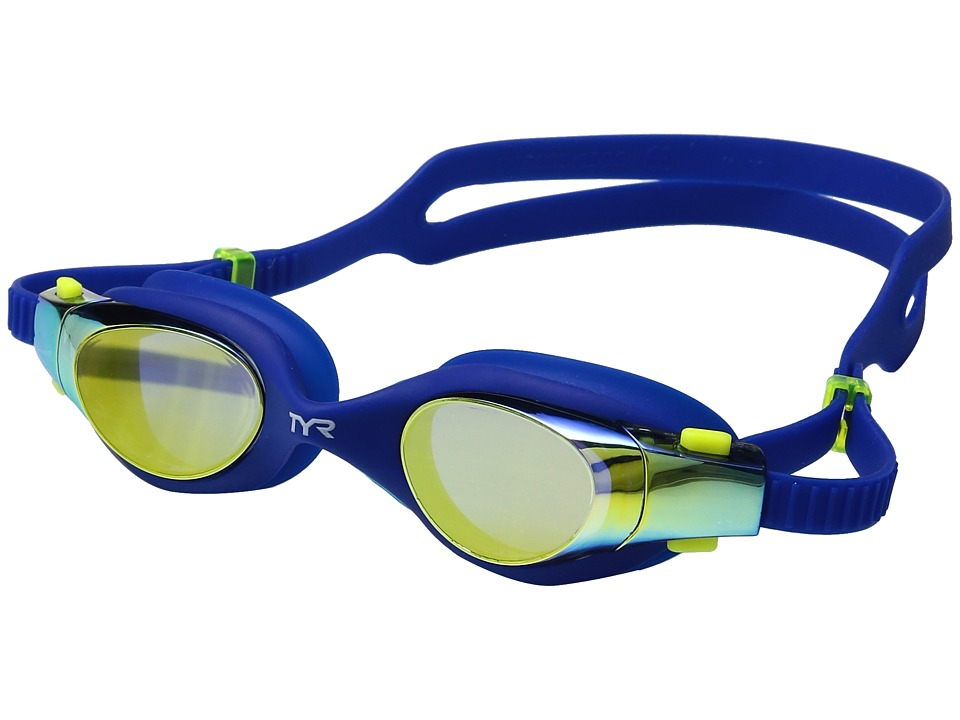 TYR - Vesi Junior Mirrored (Gold/Navy/Navy) Goggles
