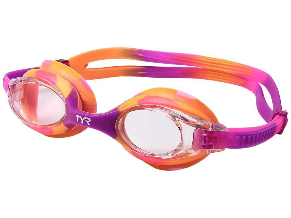 TYR - Swimplestm Goggles (Clear Pink/Mint) Water Goggles