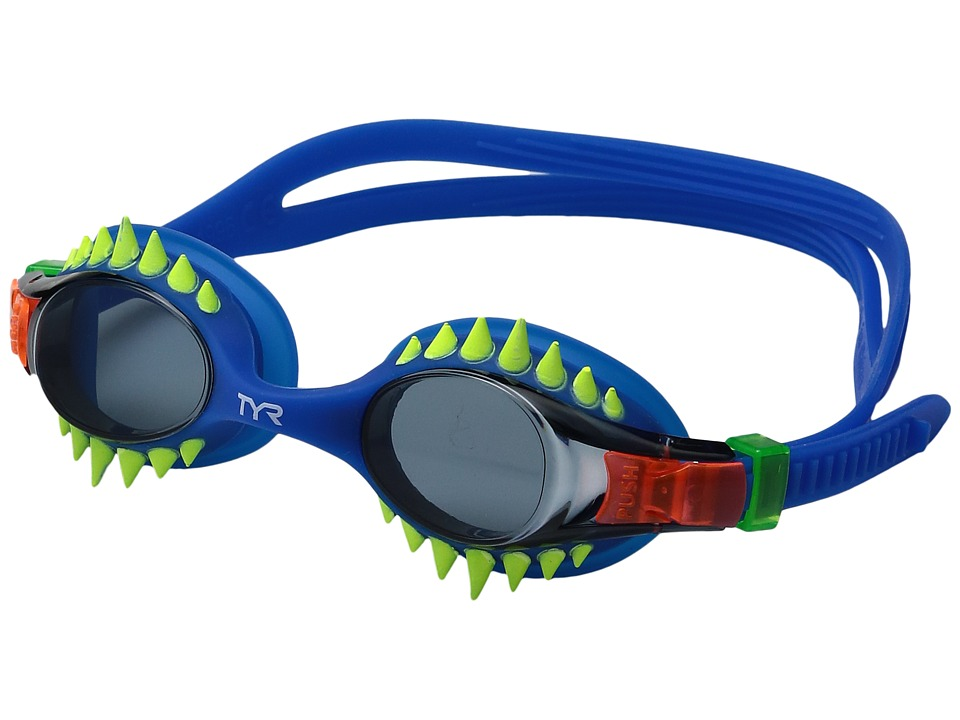TYR - Swimple Spikes (Smoke Blue/Blue) Goggles