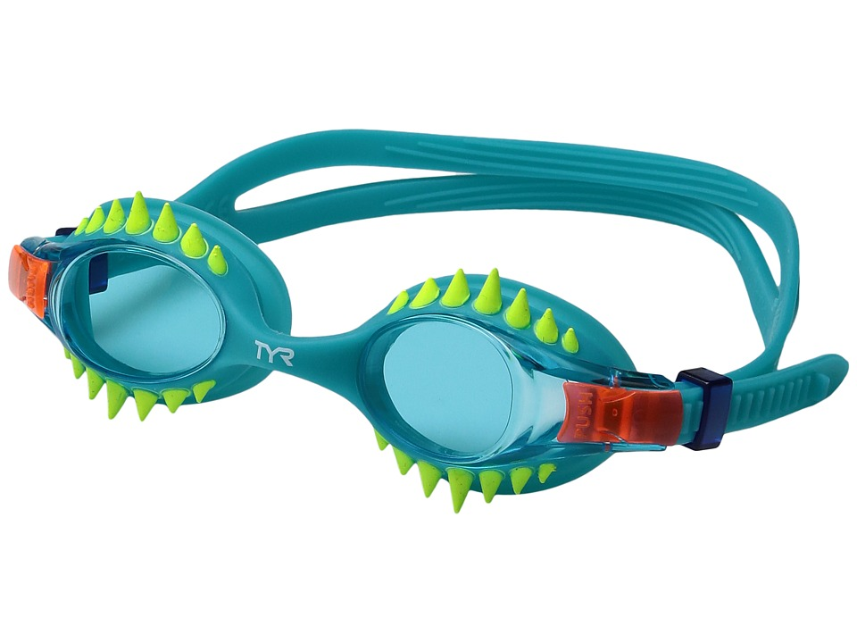 TYR - Swimple Spikes (Blue/Turquoise/Turquoise) Goggles