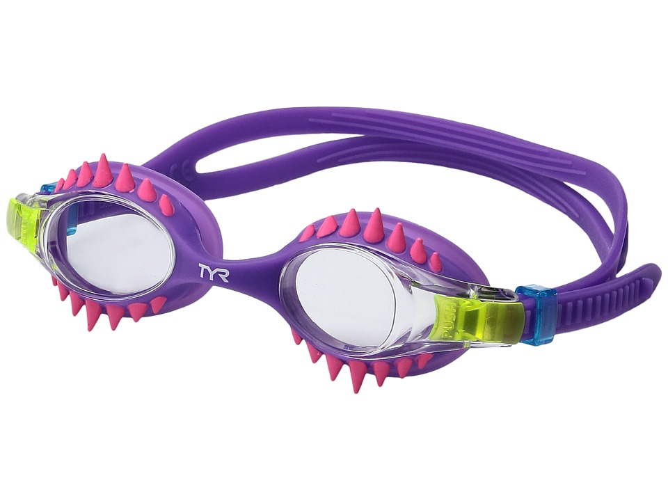 TYR - Swimple Spikes (Clear/Purple/Purple) Goggles